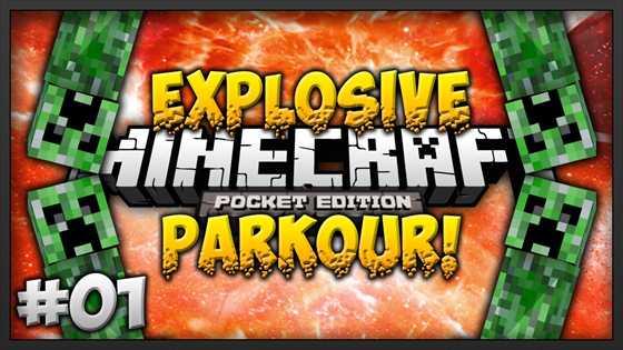 Карта Explosive Parkour — криперопаркур! [0.10.4]