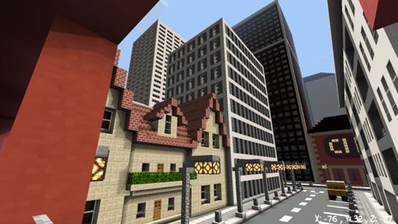 Городок майнкрафт для андроид