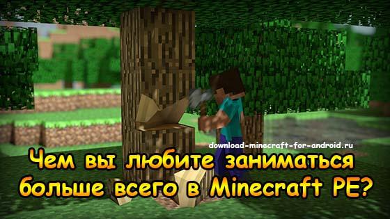 Чем вы любите заниматься больше всего в Minecraft PE?