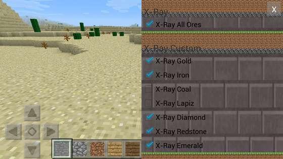 мод x-ray для minecraft pe 0.14.2
