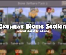 Скинпак Biome Settlers для 0.13.0