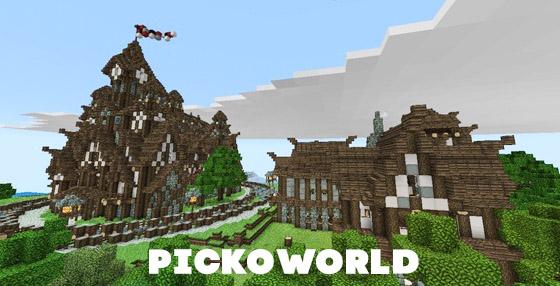 карта для Minecraft PE 0.14.0 PickoWorld