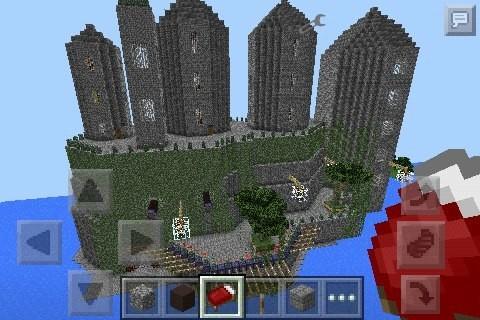 замок в майнкрафт