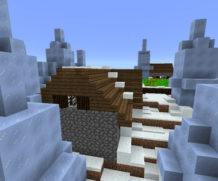 Деревня в биоме Ice Spikes!