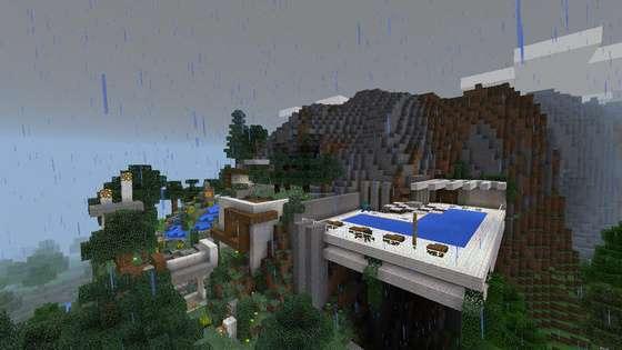 современный дом в minecraft pe