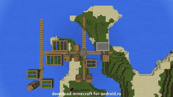 остров на выживание в minecraft pe