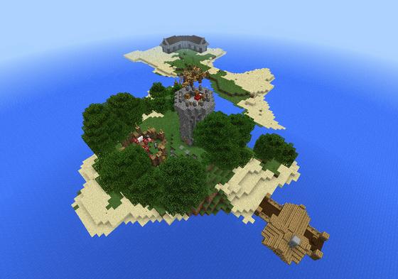 остров на выживание для майнкрафт пе 0.16.0