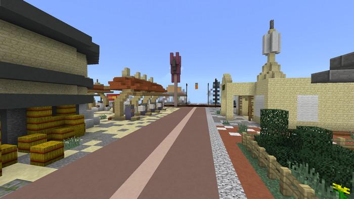 карта-город в майнкрафт пе