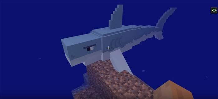 акула в майнкрафт пе