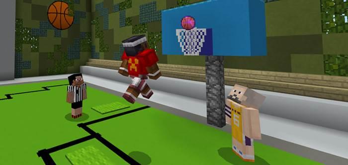 баскетбол в minecraft pe