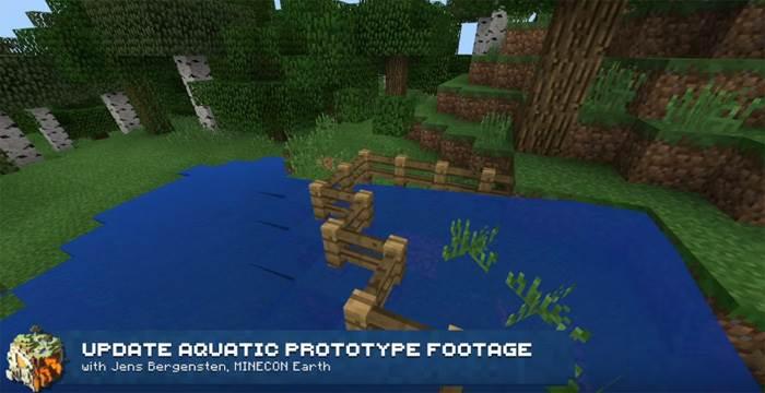 новая физика воды в minecraft pe