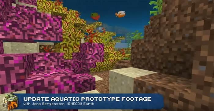 кораллы в minecraft bedrock