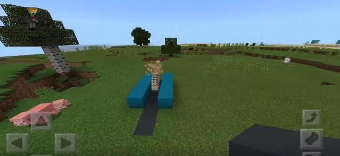 как в minecraft pe сделать пилу