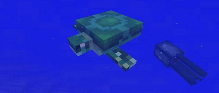 черепахи в minecraft pe