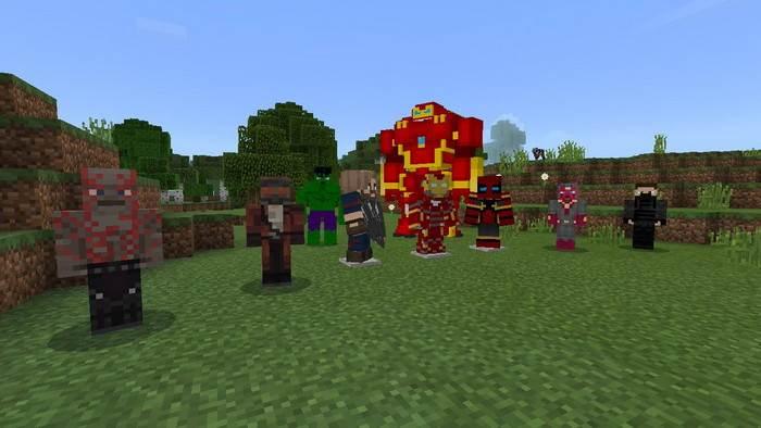 Аддон Avengers Infinity War для Minecraft Bedrock