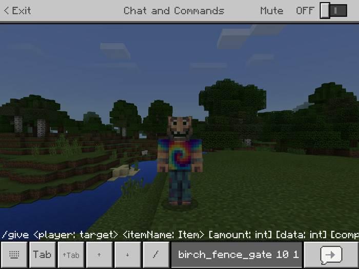 Autocomplete Minecraft addon