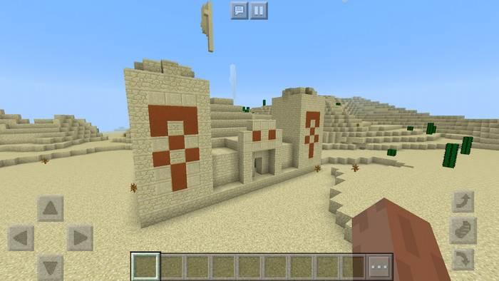 Храм пустыни в Майнкрафт Бедрок