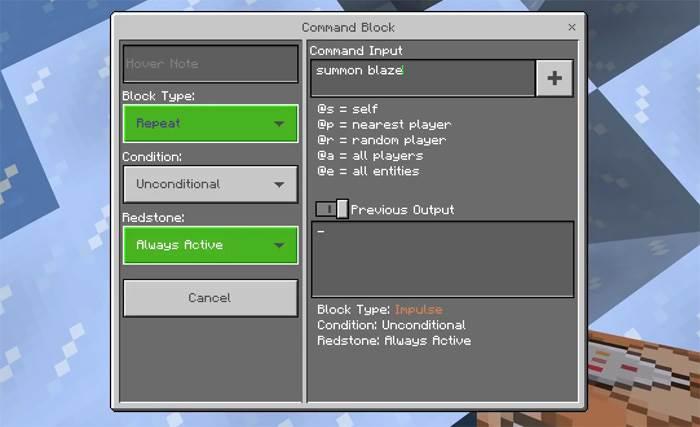 Ледяной гейзер в Minecraft 1.6