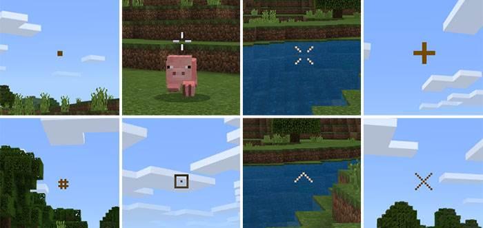 Кастомные прицелы для Minecraft Bedrock