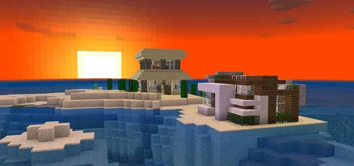 Океанический Редстоун-дом для Minecraft Bedrock 1.5.0.14