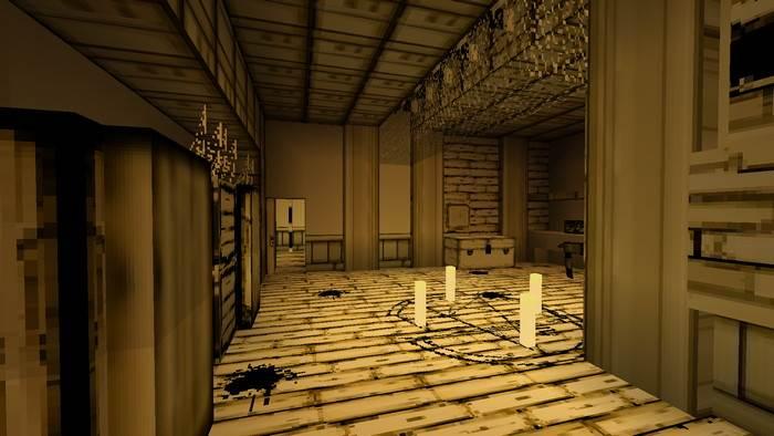 Хоррор-карта Bendy Game для MCBE