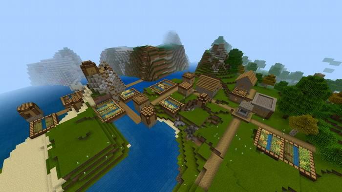 Сид на деревню для Майнкрафт Бедрок 1.5