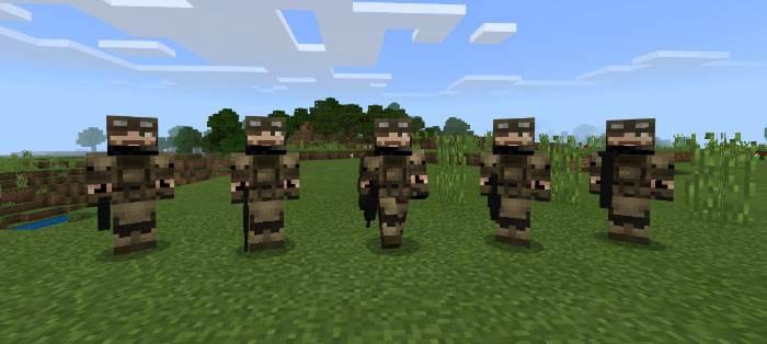 Как создать солдата в Майнкрафт Бедрок