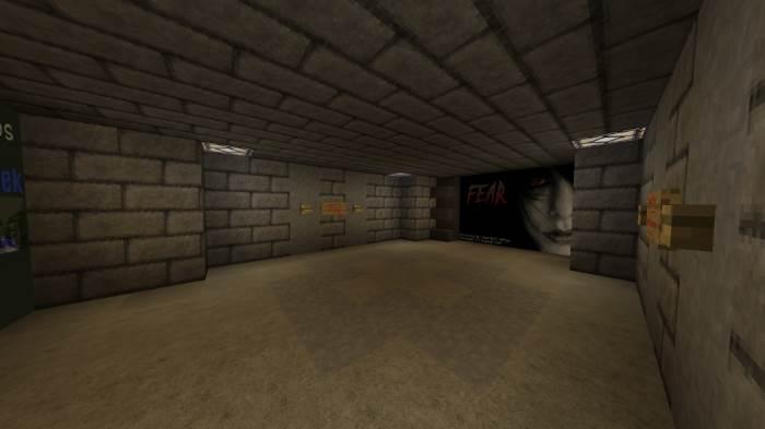 Хоррор-карта FEAR для Minecraft Bedrock 1.6