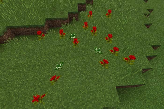 Аддон на цветы для Minecraft Bedrock