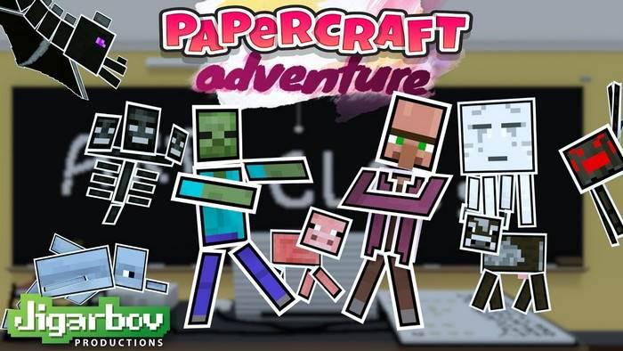 Бумажный скинпак для Minecraft Bedrock