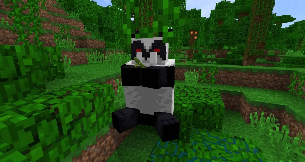 Панда бамбук