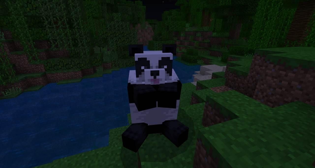 розовые губы панда