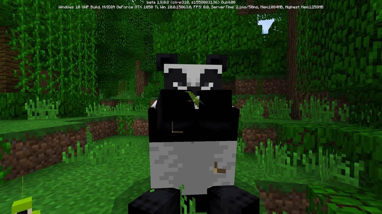 Панда в Майнкрафт